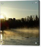 Mississippi River Dawn Light Rays Acrylic Print