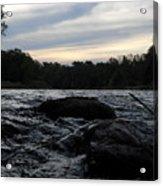 Mississippi River Dawn Sky Acrylic Print
