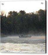 Mississippi River Fisherman At Dawn Acrylic Print
