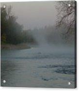 Mississippi River Fog Swirls Acrylic Print