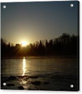 Mississippi River Golden Sunrise Acrylic Print
