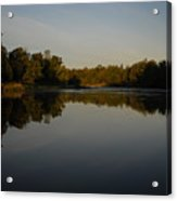 Mississippi River Mirror Like Water Acrylic Print