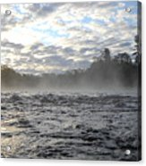 Mississippi River Mist Over Rushing Water Acrylic Print