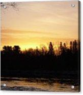 Mississippi River Orange Sky Acrylic Print
