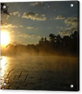 Mississippi River Sunrise Fog Acrylic Print