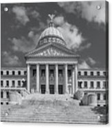 Mississippi State Capitol Bw Acrylic Print