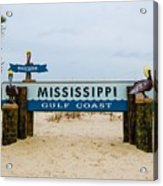 Mississippi Welcome Acrylic Print