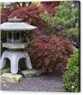 Missouri Botanical Garden A Japanese Snow Viewing Lantern Spring Time Dsc01783 Acrylic Print