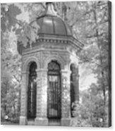 Missouri Botanical Garden Henry Shaw Crypt Infrared Black And White Acrylic Print