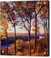 Missouri River In Fall Acrylic Print