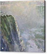 Mist At Horseshoe Falls  Acrylic Print