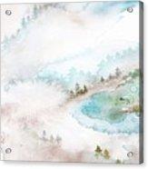 Mist In Norwegian Wood Acrylic Print