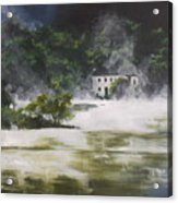 Mist On Derwent Water Acrylic Print
