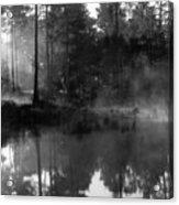 Mist On The Pond Acrylic Print