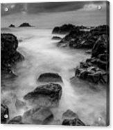 Mist On The Water In Monochrome Acrylic Print