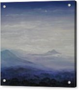 Mist Over The Mountains Acrylic Print