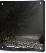 Mist Rising From The River Dove On A Winter's Day Dovedale Peak District Derbyshire England Acrylic Print