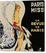 Mistanguette At The Casino De Paris Acrylic Print