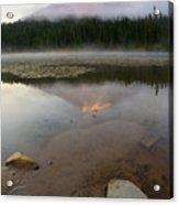 Misty Alpenglow Acrylic Print