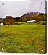 Misty Autumn At The Farm Acrylic Print
