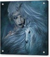 Misty Blue Acrylic Print