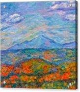 Misty Blue Ridge Autumn Acrylic Print
