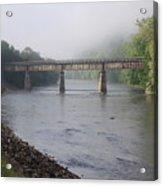 Misty Bridge Acrylic Print