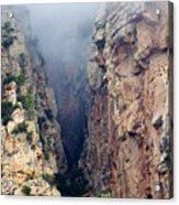 Misty Canyons Acrylic Print