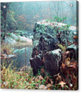 Misty Chopawamsic Creek Autumn Day Acrylic Print