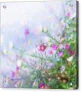 Misty Floral Spray Acrylic Print