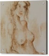 Misty Girl Acrylic Print