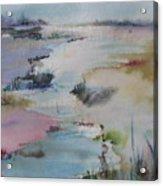 Misty Marsh Acrylic Print