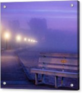 Misty Morning Boardwalk Acrylic Print