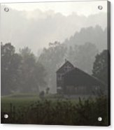 Misty Morning In Vermont Acrylic Print
