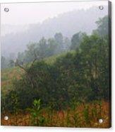 Misty Morning On The Farm Acrylic Print