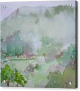 Misty Mountain Acrylic Print