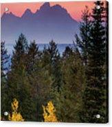 Misty Mountain Sunset Acrylic Print