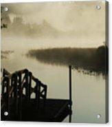 Misty Oregon Morning Acrylic Print