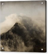 Misty Peak Acrylic Print
