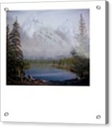 Misty Peaks Acrylic Print