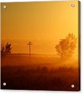 Misty Sunny Morning Acrylic Print