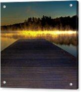 Misty Sunrise On Old Forge Pond Acrylic Print