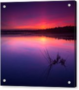 Misty Sunset At Singing Sands Beach Acrylic Print
