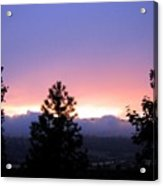 Misty Sunset Acrylic Print