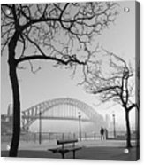 Misty Sydney Morning Acrylic Print