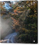 Misty Turn In The Road Acrylic Print
