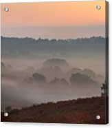 Misty Valley Sunrise Acrylic Print