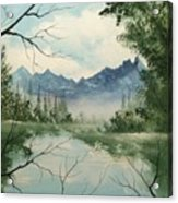 Misty View Acrylic Print