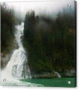 Misty Waterfall  Acrylic Print