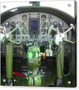 Mitchell B-25 Bomber Cockpit Acrylic Print